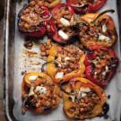 Stuffed Peppers with Fondant Rutabaga & Goat Cheese