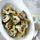Stewed Artichokes with Lemon and Garlic