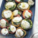 Grill-Roasted Tomatoes Topped with Cheese and Herbs