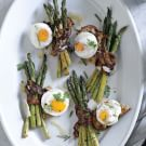 Poached Eggs with Bacon-Wrapped Asparagus