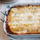 Mushroom, Spinach and Pesto Lasagna with Fontina Cheese