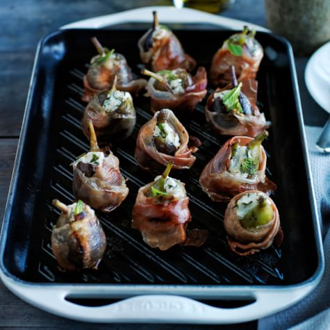 Grilled Prosciutto-Wrapped Figs with Goat Cheese ...