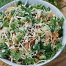 Shredded Cabbage, Melon and Mint Salad