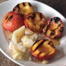 Grilled Nectarines with Pecorino and Honey