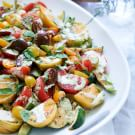 Heirloom Tomato and Grilled Squash Salad with Kaffir Lime Dressing