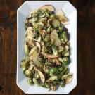 Warm Brussels Sprout and Apple Salad