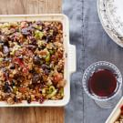 Focaccia Stuffing with Dried Fruit and Grapes