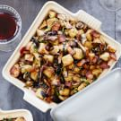 Sourdough Stuffing with Bacon, Leeks and Mushrooms
