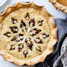 Pecan Pie with Autumn Leaf Crust
