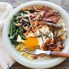 Bibimbap with Brown Rice and Bulgogi