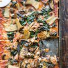 Wild Mushroom, Kale and Fontina Pizza