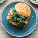 Miso Tofu Burgers with Sautéed Chard & Asian Mayo