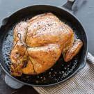 Roast Chicken with Corn Bread–Sausage Stuffing