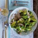 Spring Salad with Baby Artichokes and Peas