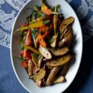 Roasted Fingerling Potatoes and Carrots