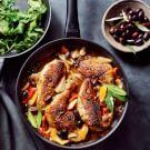 Braised Chicken with Olives and Orange Zest