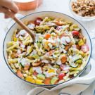 Pasta Primavera with Buttery Bread Crumbs