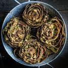 Stuffed Artichokes with Spicy Herbed Bread Crumbs