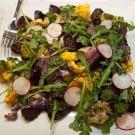 Air-Fried Vegetable Salad with Chimichurri Vinaigrette