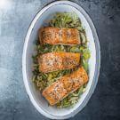 Salmon with Leeks, Fennel & Lemon