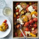 Roasted Tomatoes and Halloumi Cheese