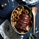 Prosciutto-Wrapped Pork Loin with Apples and Fennel