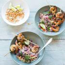 Vietnamese Slaw with Lemongrass Shrimp & Peanuts
