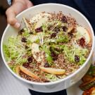 Quinoa Salad with Apples and Dried Cherries