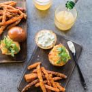 Sweet Corn and Red Pepper Fritter Burgers