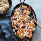Mediterranean Shrimp with Feta, Olives and Oregano
