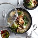 Steak and Mushrooms in Ginger-Miso Broth