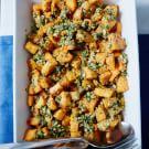 Roasted Sweet Potatoes with Hazelnut Gremolata