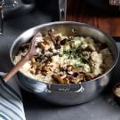 Mushroom and Fennel Risotto with Parmesan
