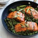Soy-Ginger Glazed Salmon with Broccolini
