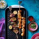 Tandoori Grilled Chicken and Eggplant