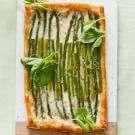 Puff Pastry Tart with Asparagus and Burrata