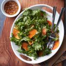Chrysanthemum Leaf and Persimmon Salad