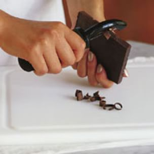 Making Chocolate Curls and Shavings