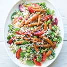 Quinoa Salad with Roasted Carrots and Blood Oranges