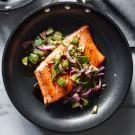 Seared Salmon with Cilantro-Cucumber Salsa