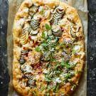 Spiralized Zucchini Tart with Gruyère