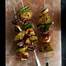 Spicy Potlatch Vegetable Skewers with Halloumi