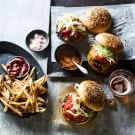 Black Truffle Burgers with Air-Fried French Fries