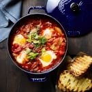 Baked Eggs with Tomatoes and Fennel