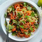 Spiralized Salad with Asian Lime Vinaigrette