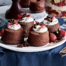 Mini Chocolate Angel Food Cakes