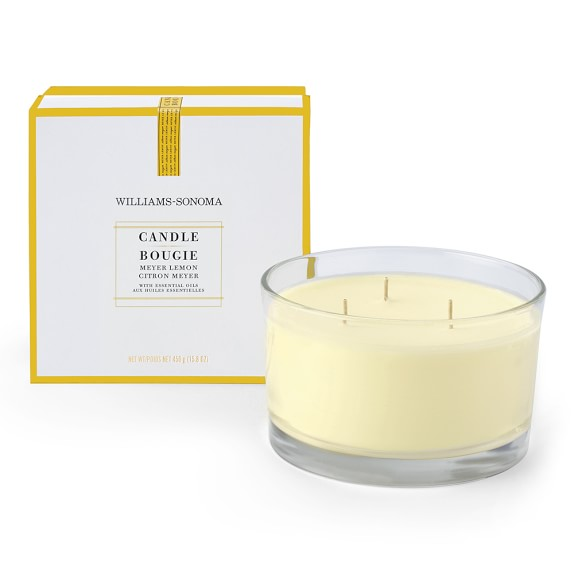 Williams-Sonoma Essential Oils Triple-Wick Candle, Meyer Lemon