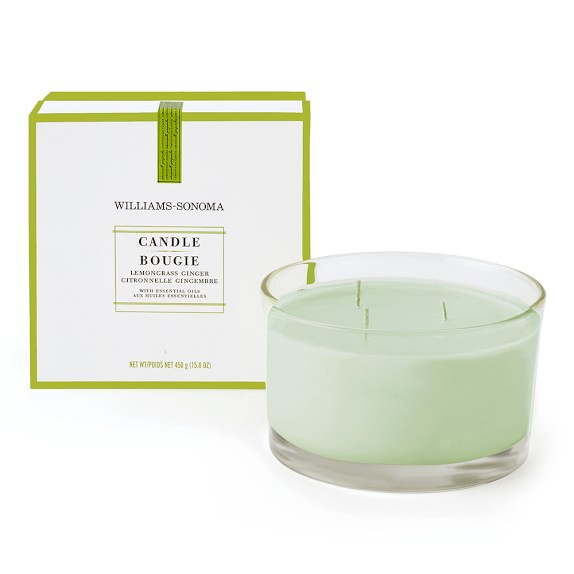 Williams-Sonoma Essential Oils Triple-Wick Candle, Lemongrass Ginger