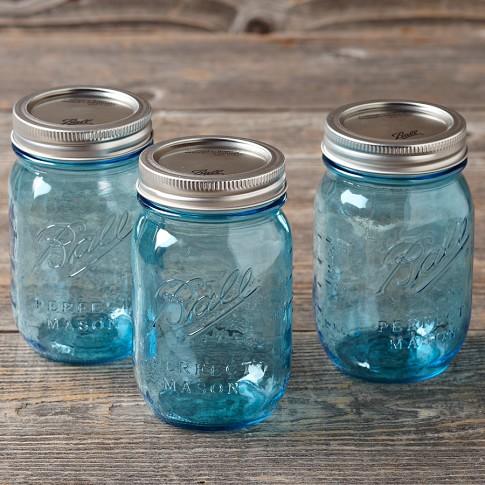 Ball Preserve Jars, Set of 6, Blue
