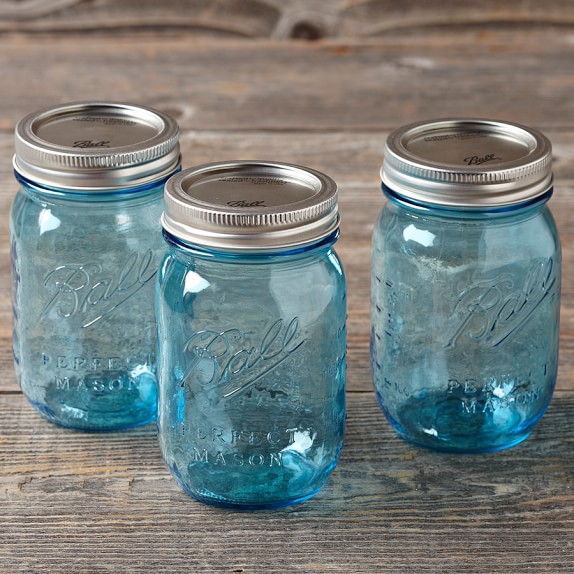 Ball Preserve Jars, Set of 6, Blue